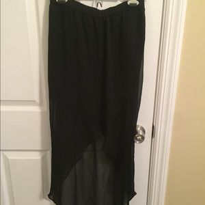 Black High Waisted High Low Skirt - Size XS